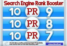 30 High PR Backlinks 10x PR9,10x PR8,10x PR7 Dofollow,Contextual,Manually build.