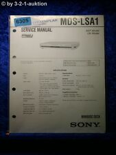 Sony Service Manual MDS LSA1 Mini Disc Deck (#6305)
