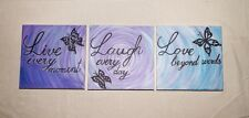 Original hand painted series of 3 canvas