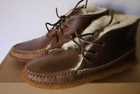 UGG Buckfield Stout Handmade Quoddy Leather Moccasin Brown Men's Size 9 & Size 7