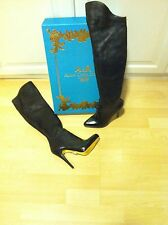 Anna dello Russo at H&M Stiefel Boots Leder Overknees EUR 37 US 6 UK 4