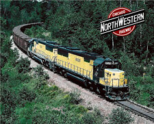 Chicago North Western SD60s Sturdy Metal Sign
