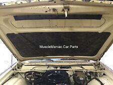 1965-1968 Chrysler RIGID FIBER MOLDED HOOD INSULATION PAD w/ CLIPS 65 66 67 68