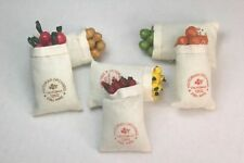NEW Dolls House Set 6 x Bags / Sacks Of Different Vegetables - Free Delivery