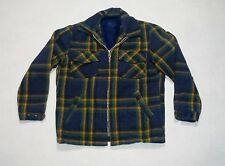 CPO Pile Lined Insulated Mackinaw Wool Hunting Cabin Work Jacket Coat Men's 40