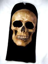 Beanie Full Face Beige Skeleton Skull face mask hair costume halloween attire