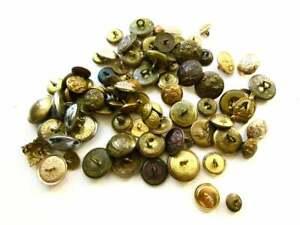 Large Collection of 83 x Vintage Antique Uniform Buttons