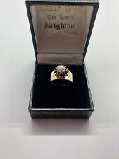 Vintage Pearl And Garnet Ring
