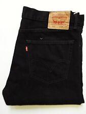 LEVIS 505 JEANS MENS REGULAR STRAIGHT LEG HIGH WAIST W36 L32 BLACK LEVP418