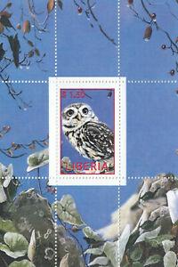 (85260) Liberia Owl Minisheet MNH Unmounted mint