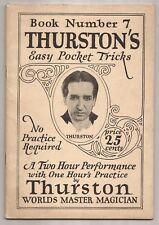 Thurston'S Easy Pocket Tricks Book Number 7 by Howard Thurston 1924