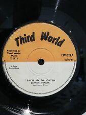 Derrick Morgan teach my daughter tw019 1975 reggae vg third world king tubby