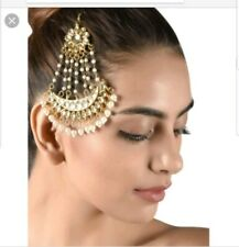 **UK SELLER** Indian Gold Jhomer Jhumer passa  Tikka Tika Headpiece Matha patti