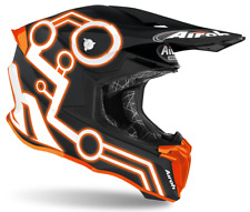 Motorcycle Helmet Cross Airoh Twist 2.0 Neon Orange Enduro Off Road Motard