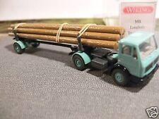 1/87 Wiking MB Sattelzug Holz Transport türkis 390 2 A