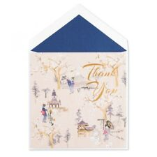 """2 Cards PAPYRUS """"THANK YOU"""" GREETING CARD Cherry Blossom"""