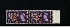 Stamps 1961 Error Posb 3d Stamps Mnh Through Perf Sg624Aeb