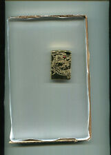 Zippo: Armor Gold plated Asian Dragon Lighter(bottom)-C-17. unused - sealed.
