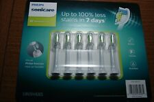 6x Philips Sonicare DiamondClean Genuine Standard Brush Heads | White |
