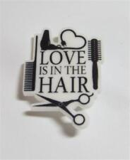 """Cg3781.Acrylic Brooch - """"Love Is In The Hair"""" - Free Uk P&P"""