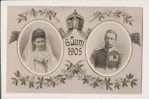 Carte Postale Vintage Couronne Prince Wilhelm & La Princesse Héritière Cecilie
