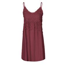 Women Sleeveless Party Dress Summer Tassel Cotton Long Shirt Dress Plus Size UK