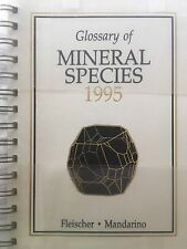 1995 Fleisher's Glossary of Mineral Species - BRAND NEW