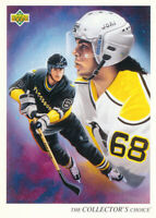 Jaromir Jagr 1992-93  Upper Deck #16 Pittsburgh Penguins hockey Card