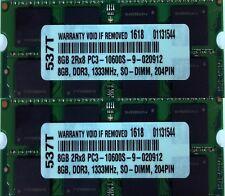 "16GB 2 X 8GB MEMORY FOR MAC BOOK PRO •17"" 2.2GHz MC725LL/A Quad Core i7"