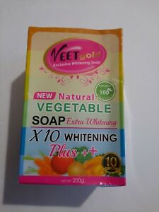 VEET GOLD exclusive Vegetable soap X10 EXTRA Whitening Plus+ 200g