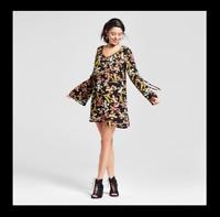 NEW Women's Bell Sleeve Shift Dress - Xhilaration Juniors Size: XS