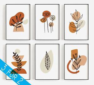Boho Art prints, Living Room, Minimalistic, Terracotta, Poster Gallery, Modern