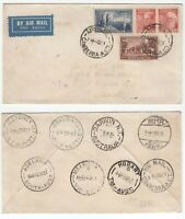 Australia 1951 Commonwealth set FDC well travelled see backstamps