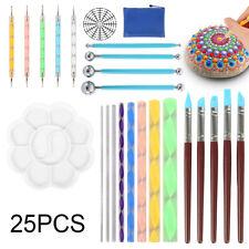 25X / Set Mandala Dotting Tools Kits peinture roches Dot Art Paint Pen Stenci SH
