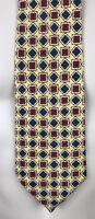 "TOMMY HILFIGER Men's $85 Yellow/Gray/Red Necktie 100% Italian Silk Tie 58"""
