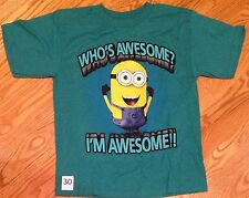 Despicable Me Minion Boys Size Small T shirt Short Sleeve Green #30