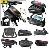 WILD MAN Bicycle Front Frame Phone Bag Cycling Bike Tube Pouch Holder Saddle Bag
