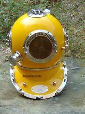 Nautical Maritime Deep Sea Anchor Engineering Yellow Diving Divers Helmet decor