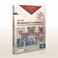 Stecotec Briefmarken-Verwaltung Pro [CD-ROM] - Software/Programm f. Sammler