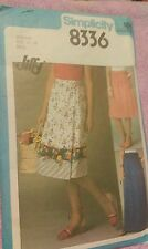 Vintage 1978 Front Wrap Skirt Miss Size 14 -  Factory Fold Simplicity Jiffy 8336