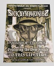 """Sick Symphonies """"In This Lifetime"""" Promo card Psycho Realm Street Platoon"""