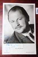 Postkarte Ansichtskarte Schauspieler  Autogramm Bruno W.Pantel