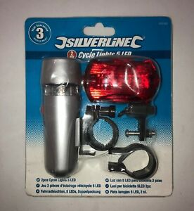 Silverline 2pce. Cycle Lights with 5 LEDs