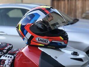 "Shoei X14 ""Brink"" Helmet Medium w Chrome Visor"