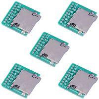 5Pcs Micro SD /TF Card Breakout Transfer Board Module Memory Card Interface 2mm