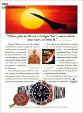 1970's Rolex British Airways Concorde Vintage Watch REPRODUCTION Print Ad