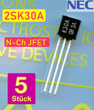 5 x 2SK30A JFET NEC  n-Channel JFET rauscharm Audio Anwendungen - Brief aus DE