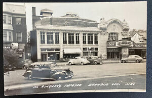Mint Usa Real Picture Postcard Al Ringling Theater Baraboo Wisconsin