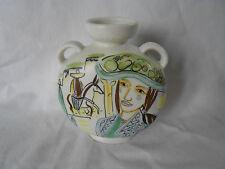 Rörstrand Carl Harry Stalhane Moderne Vase Mexico handgemalt dekoriert
