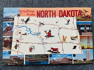 Greetings from North Dakota Vintage Postcard